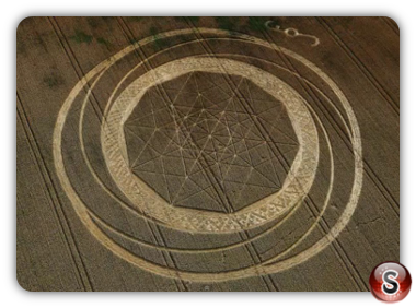 Crop circles - Jubilee Plantation nr Cherhill Wiltshire 2011