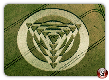 Crop circles Tetbury Lane, Nr Charlton, Wiltshire, UK 2014