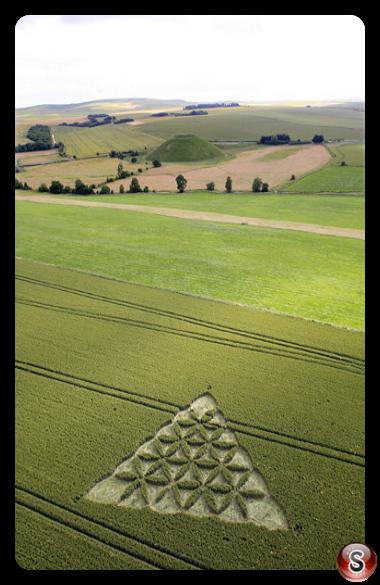 Crop circles - Waden Hill nr Avebury, Wiltshire 2012