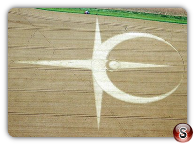 Crop circles - Allington, Wiltshire, UK 2012