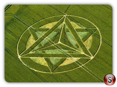 Crop circles -  Foxhill, Wiltshire, UK. 2012