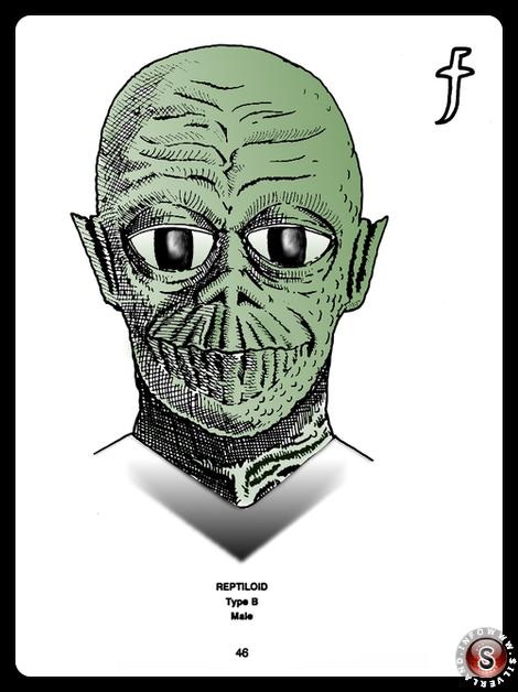 Reptiloid type B ( false colour ) - Blue Planet Project - Rielaborazione grafica Silverland