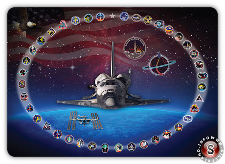 NASA tributo allo Space Shuttle Discovery
