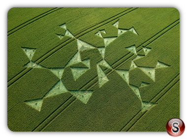 Crop circles - Charlbury Hill, Oxfordshire