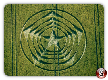 Crop circles Wilmington longman East Sussex 2014