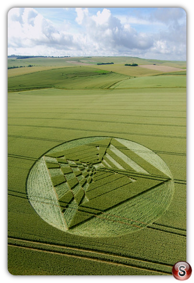 Crop circles - West Kennett, Longbarrow, Wiltshire 2007