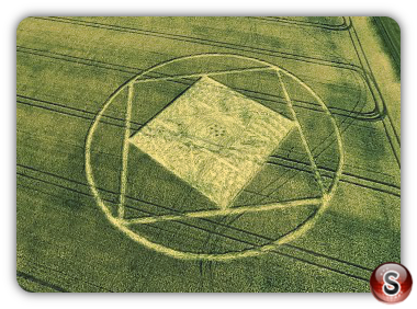 Crop circles Etchilhampton, Wiltshire UK 2015
