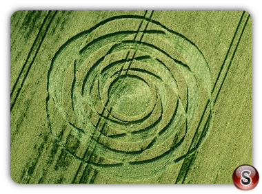 Crop circles Uffcott, Wiltshire UK 2015