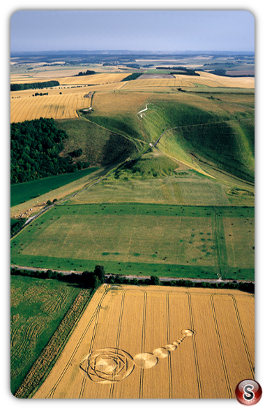 Crop circles - Uffington White Horse Oxfordshire 2000