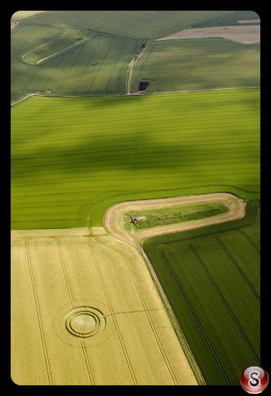 Crop circles - West Kennett Longbarrow Near Avebury Wiltshire 2014