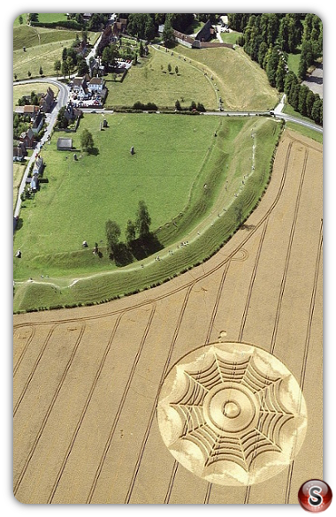Crop circles - Avebury Henge Wiltshire 1994