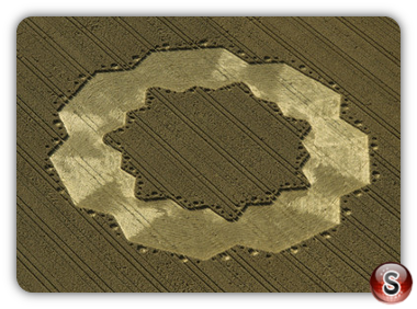 Crop circles - Tawsmead Copse, West Stowell, Wiltshire 1998