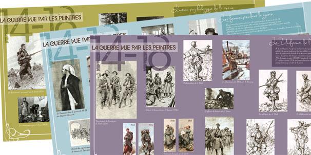 Exposition urbaine (15 Bâches- Bicentenaire de la guerre de 14-18) - APEPAW (Association pour l'Environnement  et le Patrimoine de Wissous)