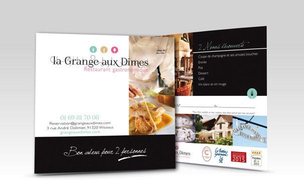Bon cadeau - La GRANGE AUX DÎMES -Wissous