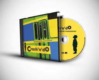 CD : Boitier, livret intérieur et décor CD - Crash'n'Do, groupe de musicien poitevin