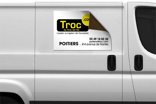 Plaque magnétique pour camion - TROC.com