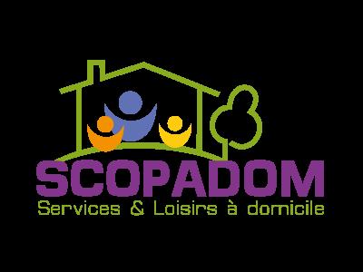 Création logo et charte graphique - SCOPADOM - Société ACÉASCOP - Châtellerault