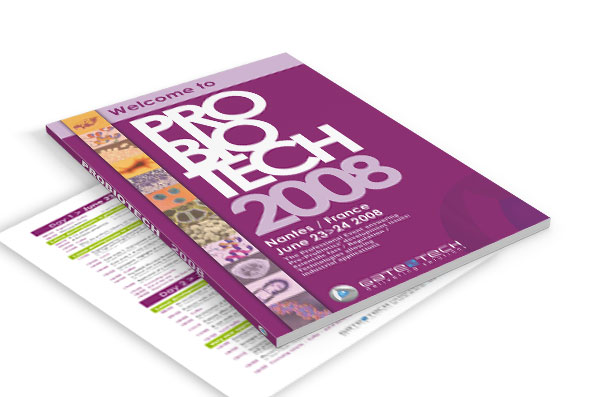 "Catalogue salon ""PROBIOTECH 2008"" pour COMUNICA - Agence de communication - Nantes"