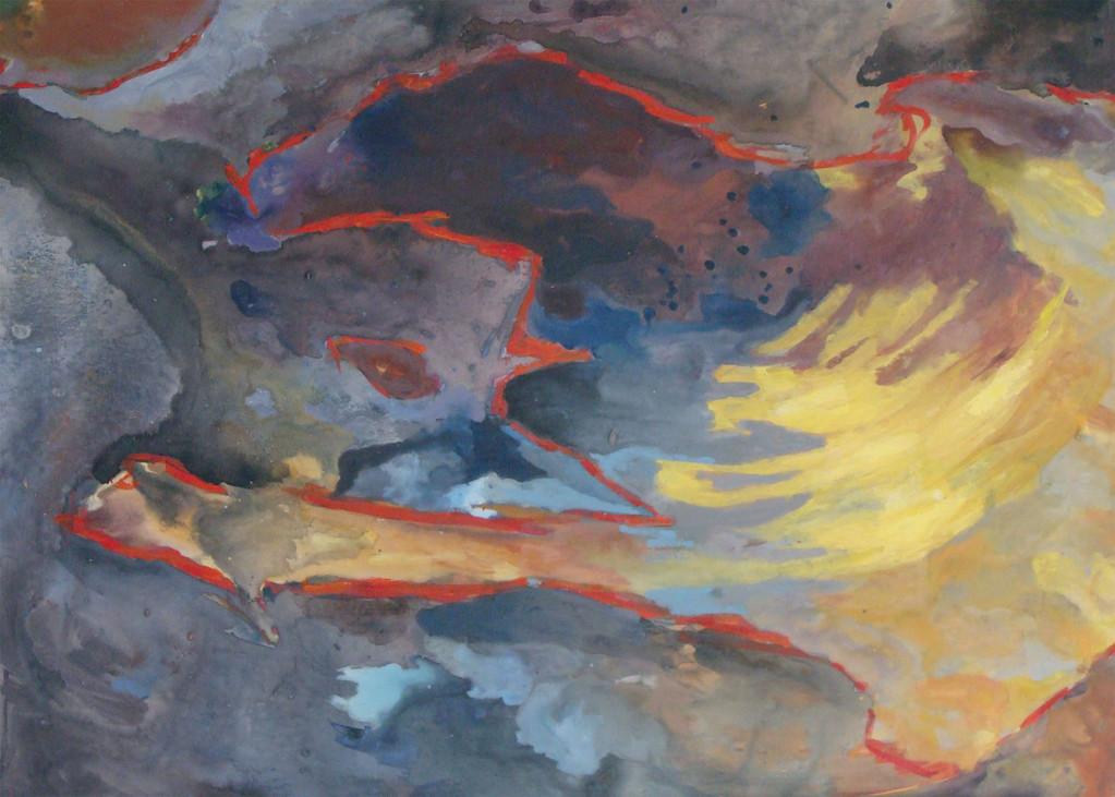 Haîti vue du ciel avec les couleurs empruntées à Georges Joussaume