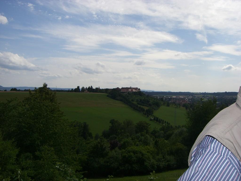 Blick vom Schönenberg über Ellwangen
