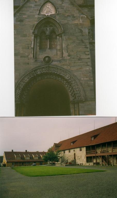 Klosterportal und Seitenansicht