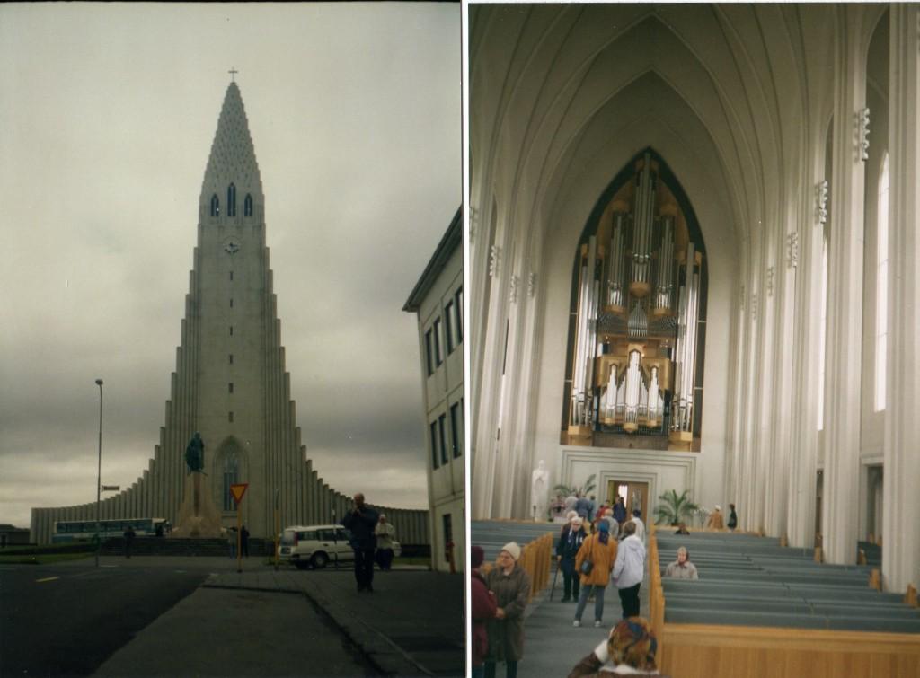 Reykjavik Kirche Aussen-Innenansicht