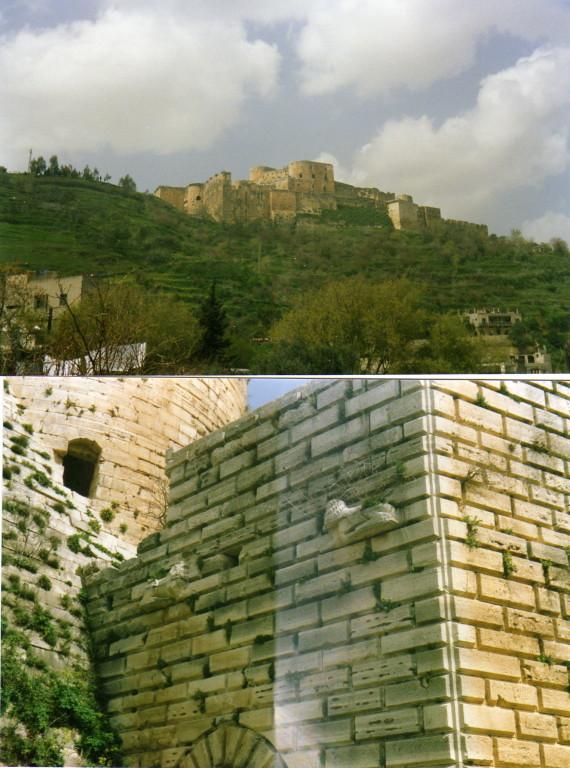 Mauern Krk de Chevalier (Kreuzzüge)