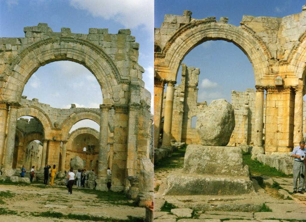 der heilige Stein Simeonkloster (man muss ihn berühren)