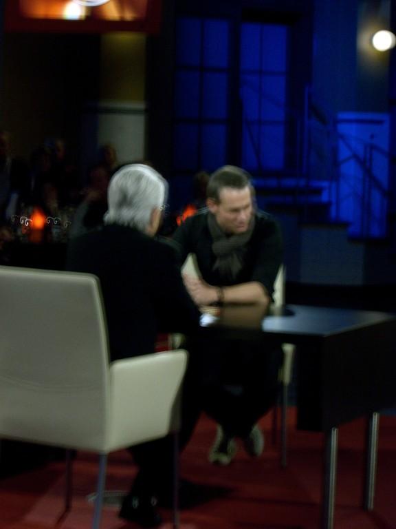 Frank Elstner mit einem Gast Schauspieler Ralf  Bauer
