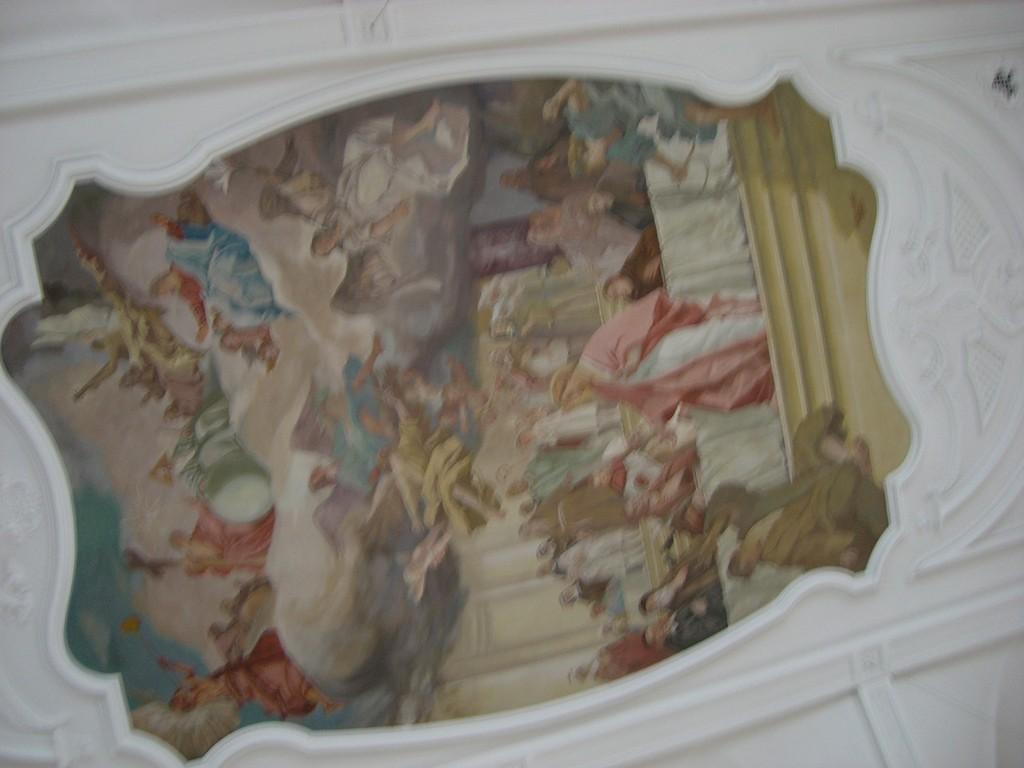 Deckengemälde in der Kapelle Maria Hilf