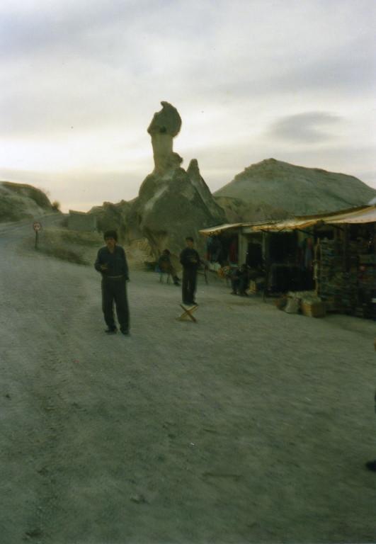 Händler bei den Tuffgesteinen