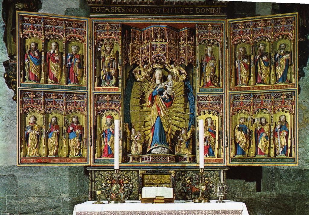 Bergen Senmiddelalderkerk Hauptaltar