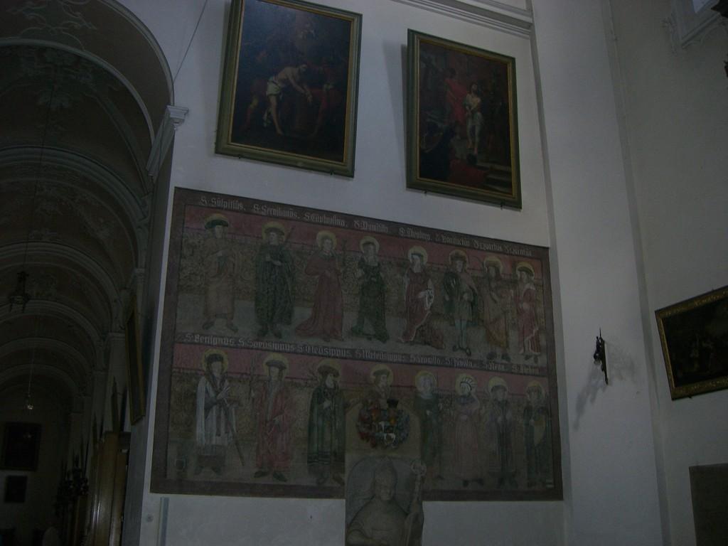 St. Vitus Freske am l. Seitenaltar