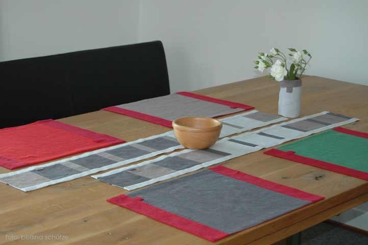 ... so könnte eine Tischdekoration aussehen ...