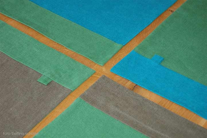 Detailansicht von meinen Set. Sie sind in allen Farbkombinationen und in Ihrer Wunschgröße erhältlich.