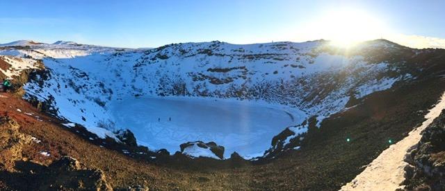 lago vulcanico cratere Kerið Islanda Circolo d'Oro