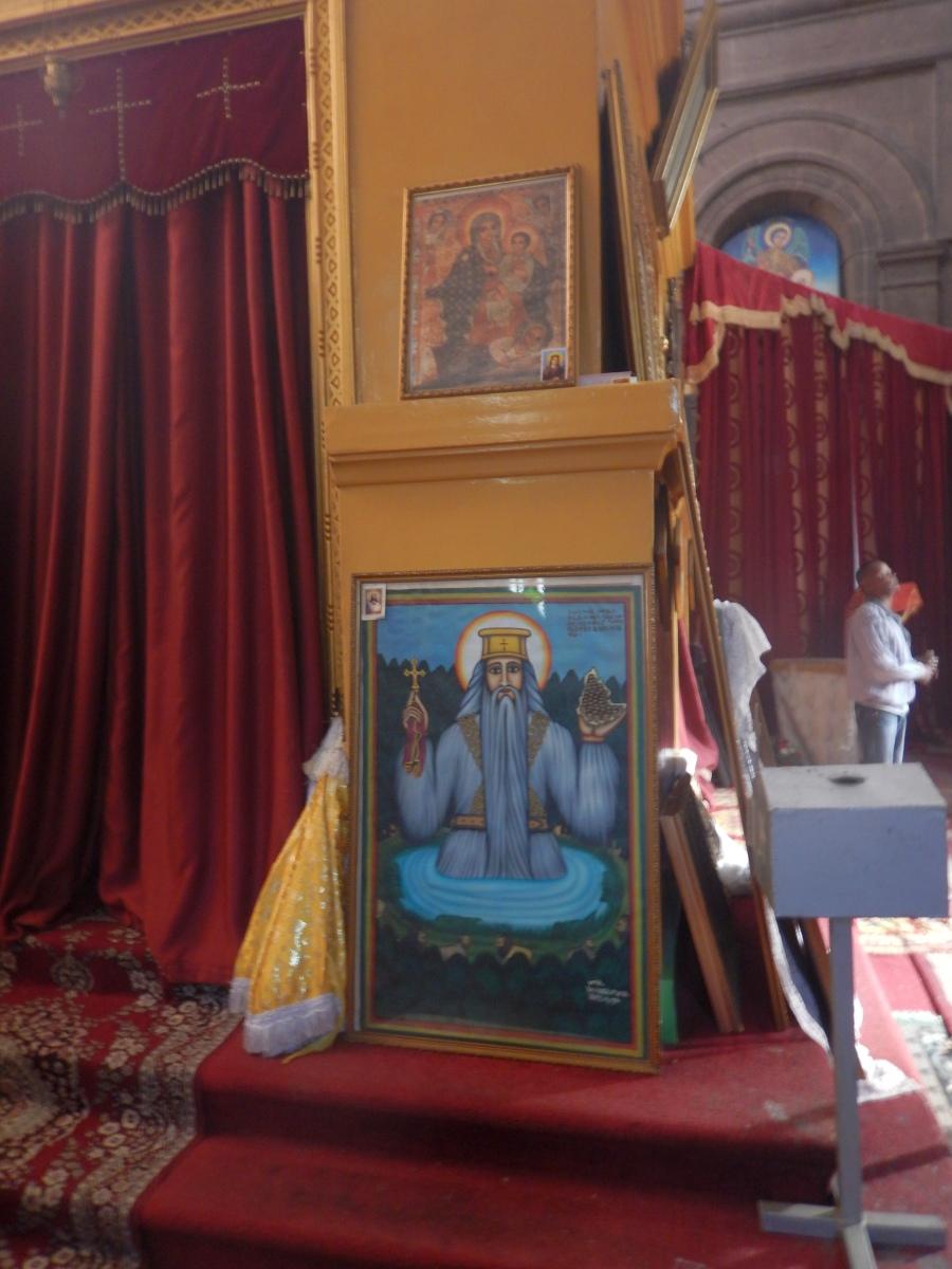 Visite du Mausolé de Ménélik II (Eglise Beta Maryam). Visite de Addis Abeba, capitale de l'Ethiopie. Voyage Séjour Trekking et randonnée, Road trip en Ethiopie.  Région Amhara.
