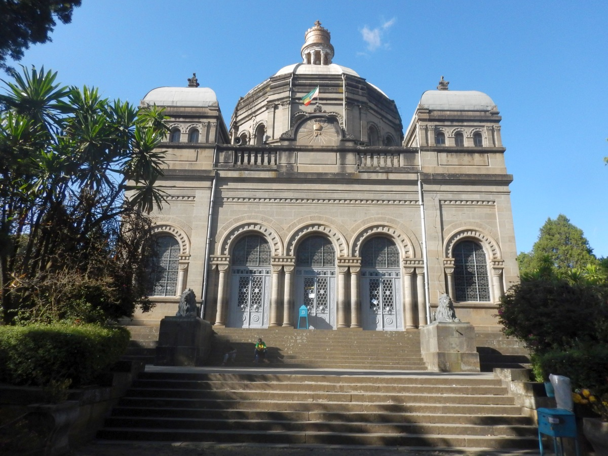Visite du Mausolé de Ménélik II (Eglise Beta Maryam) à Addis Abeba en Ethiopie.