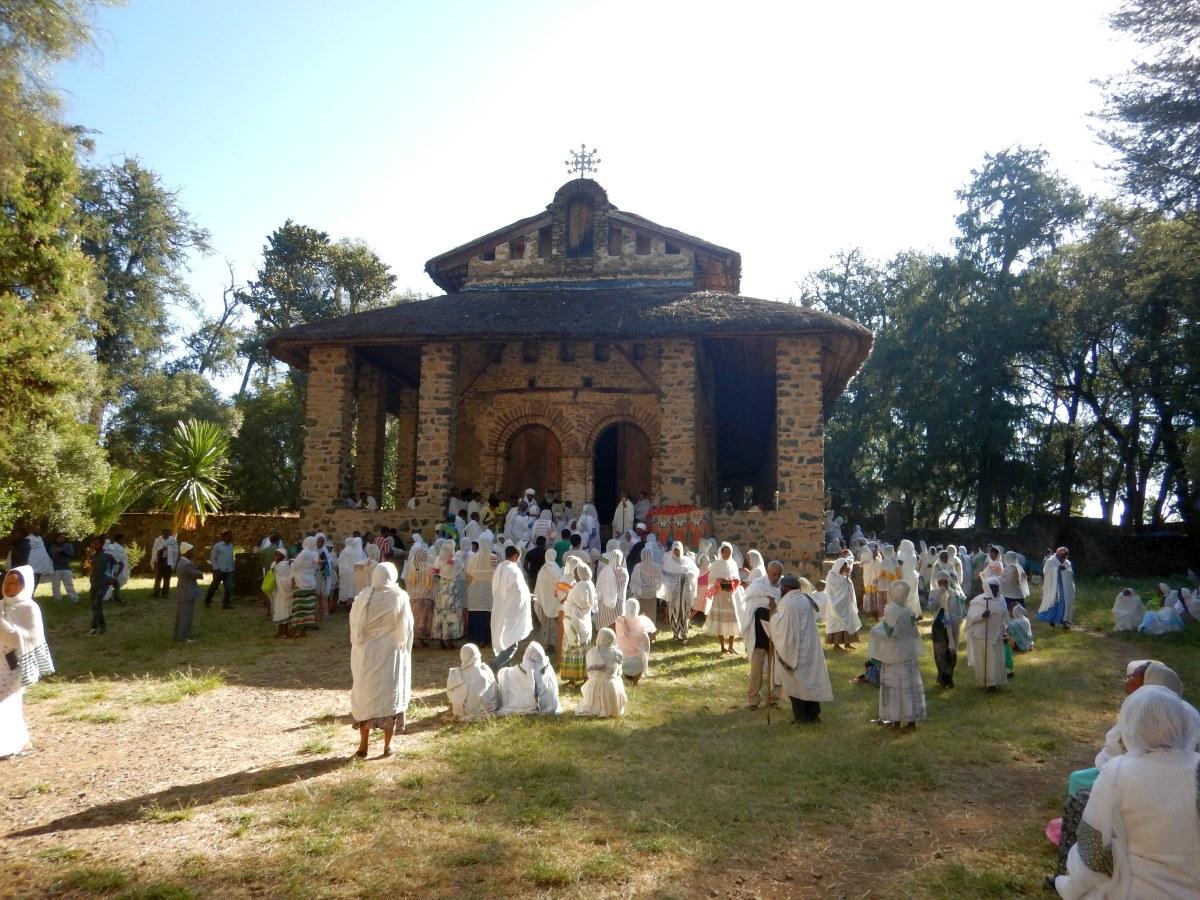 L'Eglise Dabra Birhan Selassie. Voyage Séjour Road Trip Trek Trekking Randonnée en Ethiopie. Visite de Gondar en Ethiopie. L'Eglise Debre Birham Selassie de Gondar
