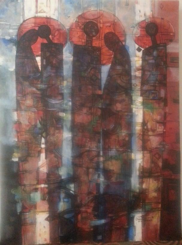 Peintre éthiopien Mawuli Ethiopie Plateforme Solidaire France Ethiopie Voyage Equitable Vêtement Robe écharpe Café Epice éthiopienne habesha Artisanat éthiopien