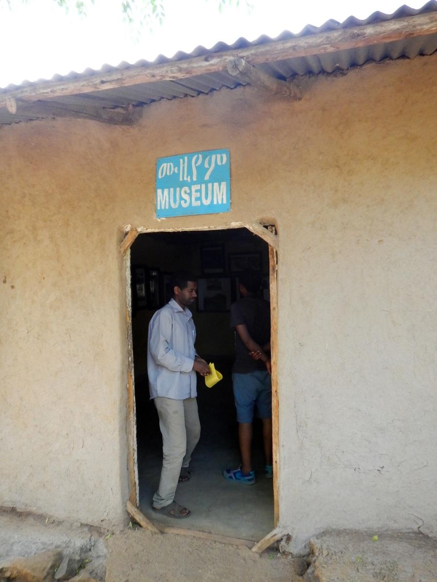 L'entrée du musée de la communauté Awra Amba en Ethiopie