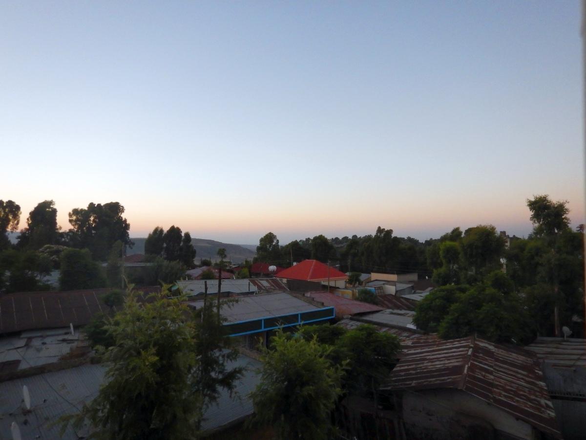 Quelques levés de soleil sur Gondar, Ethiopie