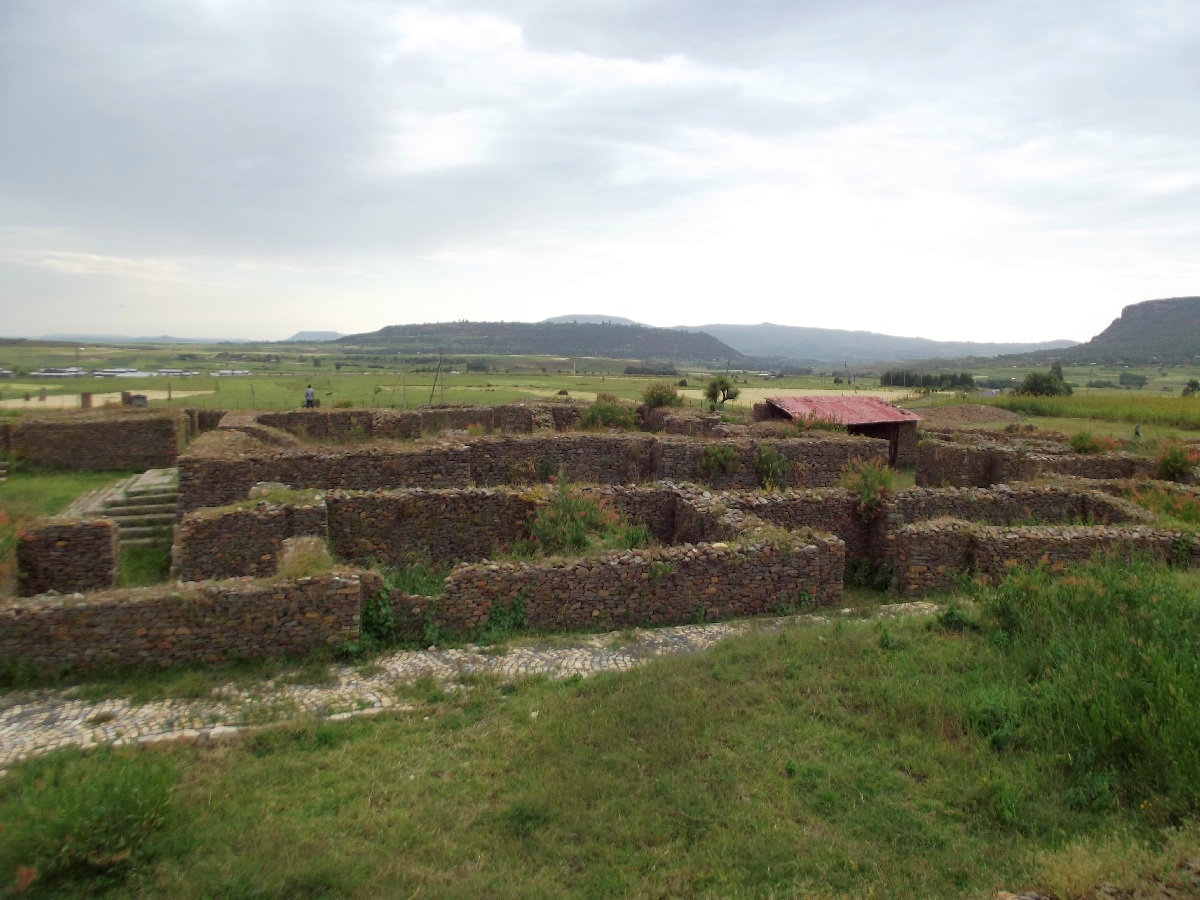 Trek, randonnée et visite d'Axum en Ethiopie. Le Palais de la Reine de Saba / Le Palace de Makeda