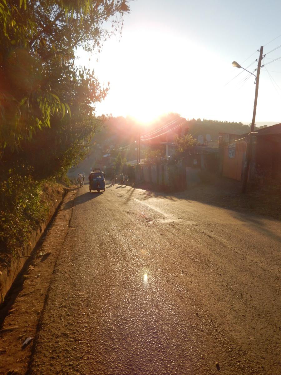 Sunset Voyage Séjour Road Trip Trek Trekking Randonnée en Ethiopie. Gondar en Ethiopie, la ville et ses faubourgs