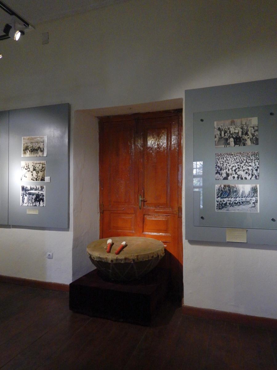 Tambour servant à la Proclamation. Voyage Séjour Trekking et randonnée, Road trip en Ethiopie.  Région Amhara. Visite du Addis Abeba Muséum en Ethiopie.