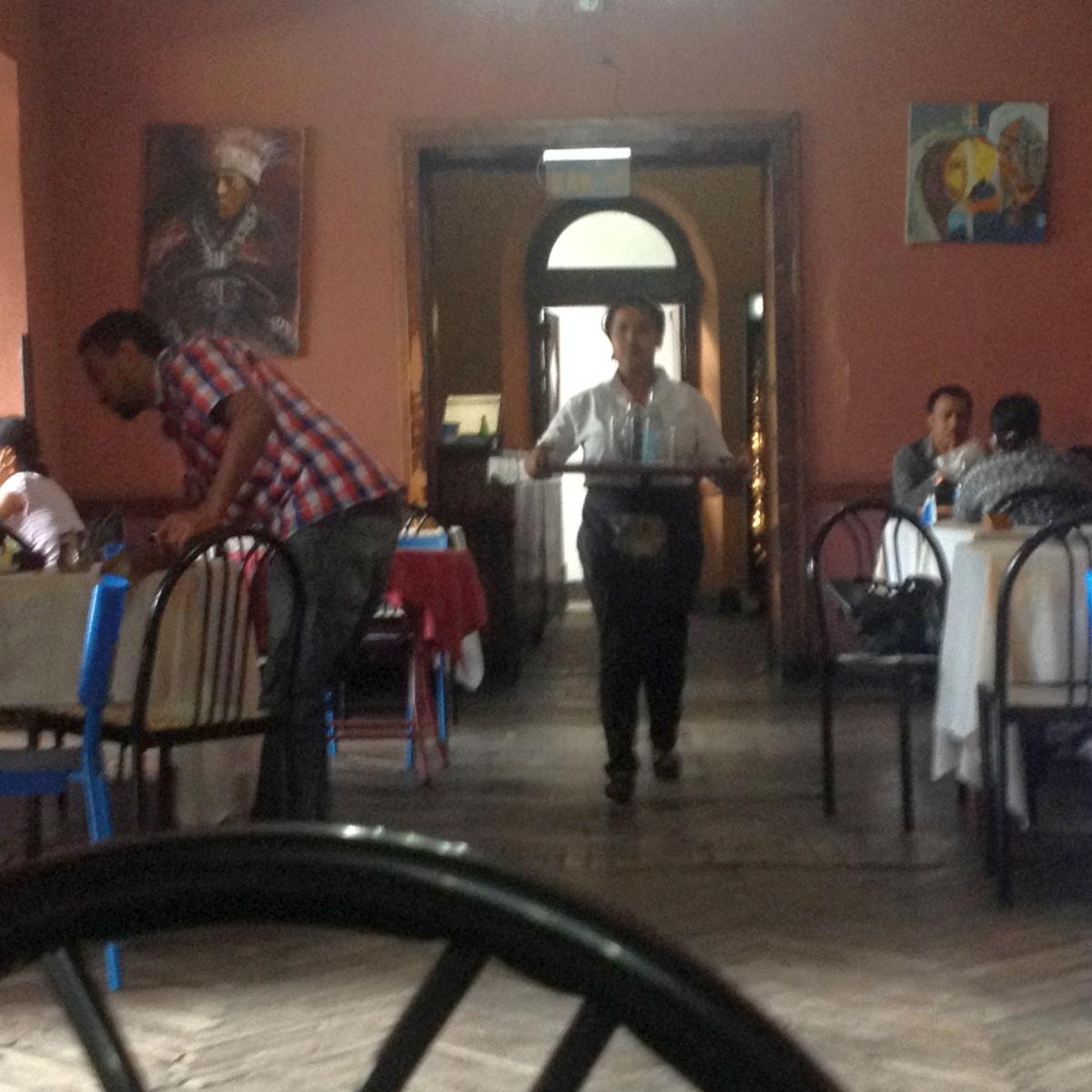 Le lunch à l'Hotel Taitu. Trek, randonnée et visite d'Addis Abeba.