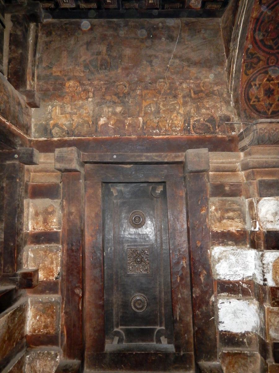 Les icônes muraux de l'église Yemrehanna Krystos