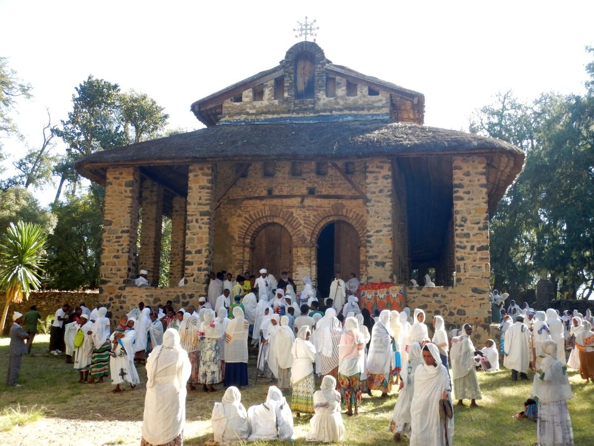 Debre Berhan Selassie Church. Voyage Séjour Road Trip Trek Trekking Randonnée en Ethiopie. Visite de Gondar en Ethiopie. L'Eglise Debre Birham Selassie de Gondar