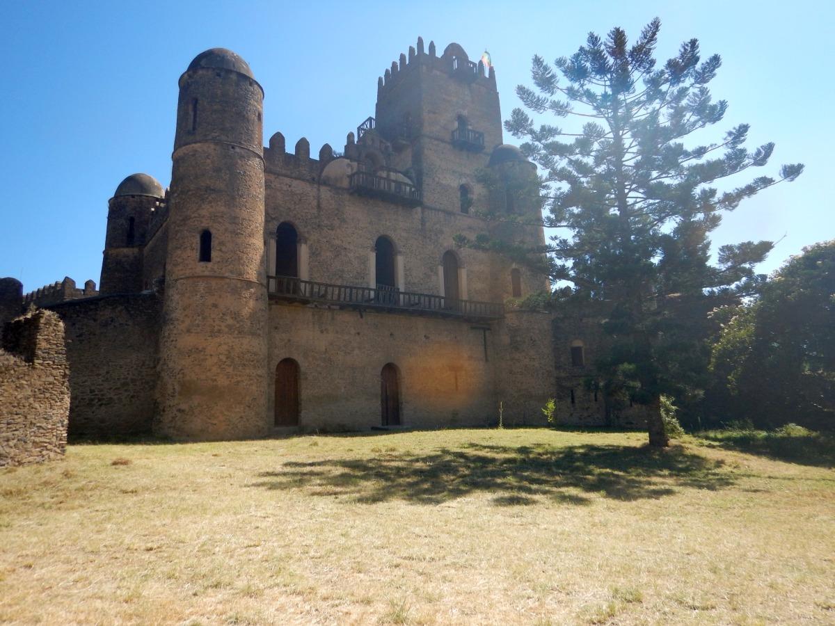 Château de l'Empereur Fasiladas. Voyage Séjour Road Trip Trek Trekking Randonnée en Ethiopie. Gondar en Ethiopie. Les Châteaux de Gondar Fasil Ghebbi