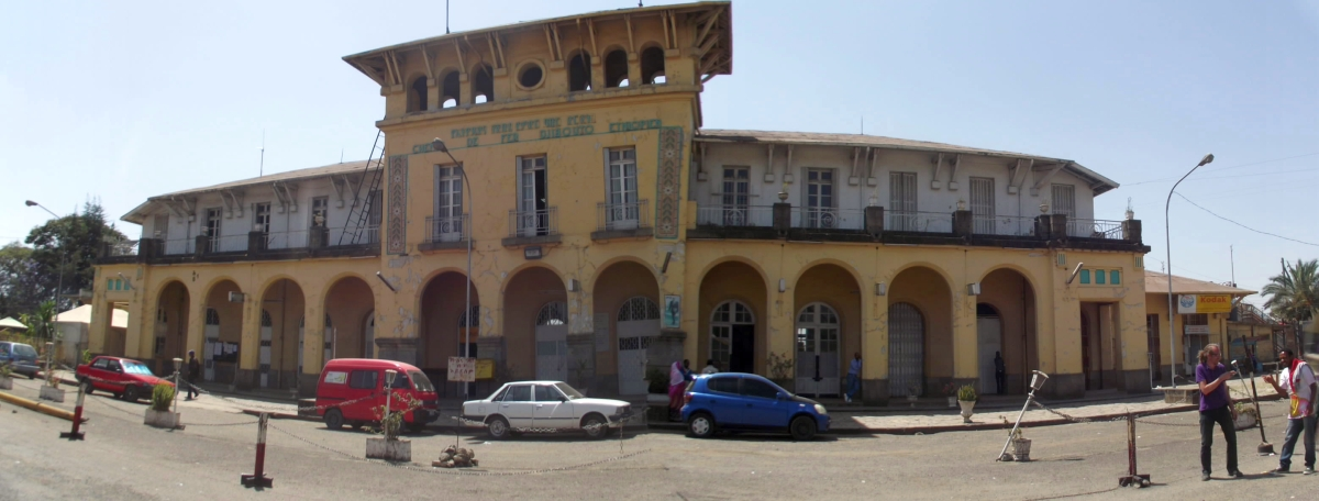 Trek, randonnée à Addis Abeba. Visite de la gare d'Addis Abeba en Ethiopie.